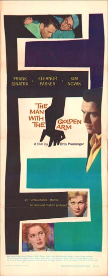 Man with the Golden Arm, The US Insert movie poster