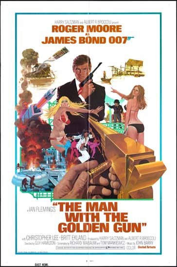 Man With The Golden Gun, The US One Sheet international movie poster