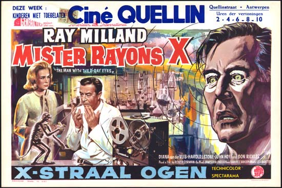 X The Man With XRay Eyes Belgian movie poster