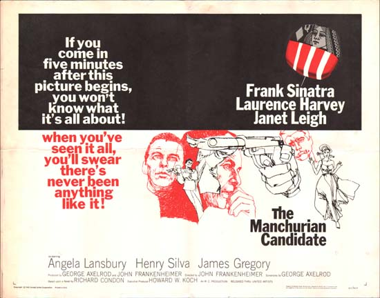 Manchurian Candidate, The US Half Sheet movie poster