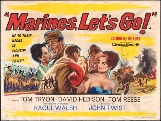 Marines Lets Go UK Quad movie poster