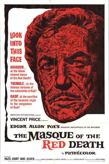 Masque of the Red Death, The US One Sheet movie poster