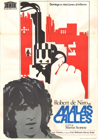 Mean Streets Spanish One Sheet movie poster