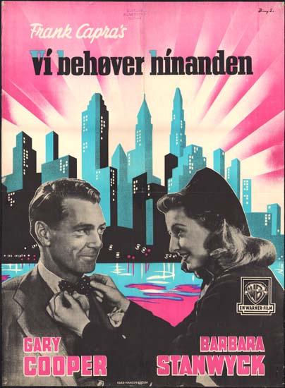 Meet John Doe Danish One Sheet movie poster