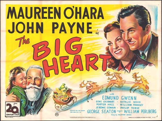 Miracle on 34th Street [ The Big Heart ] UK Quad movie poster