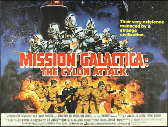 Mission Galactica The Cylon Attack UK Quad movie poster