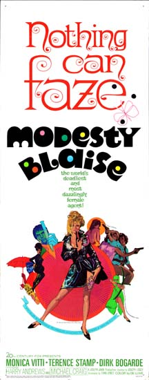 Modesty Blaise US Insert movie poster