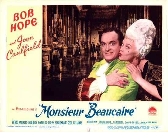 Monsieur Beaucaire (1946 film) Monsieur Beaucaire original US Lobby Card number 7 Movie Poster