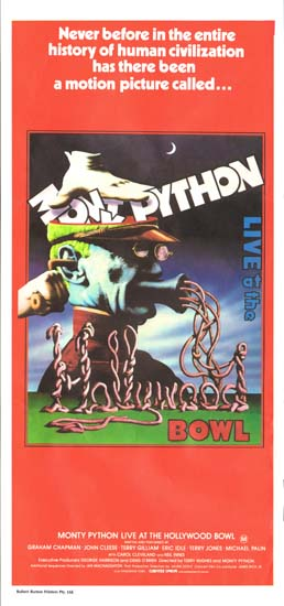 Monty Python Live at the Hollywood Bowl Australian Daybill movie poster