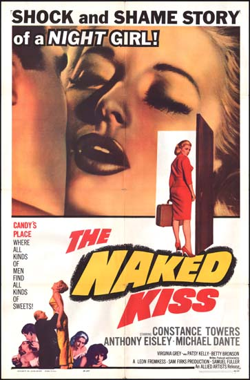 Naked Kiss, The US One Sheet movie poster