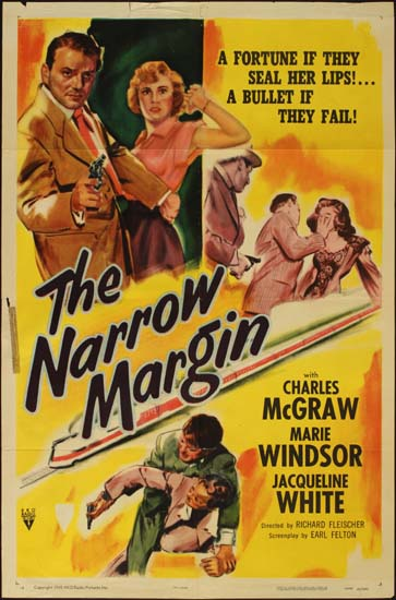 Narrow Margin, The US One Sheet movie poster