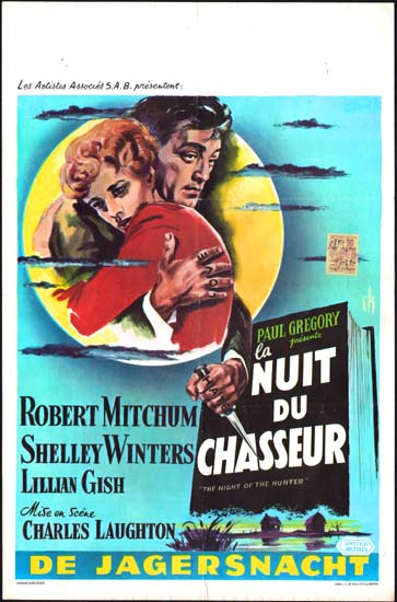 Night of the Hunter, The Belgian movie poster