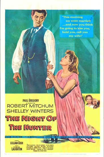 Night of the Hunter, The US One Sheet movie poster