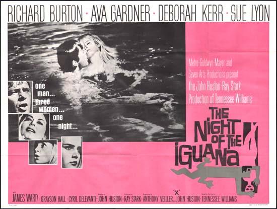 Night of the Iguana, The UK Quad movie poster