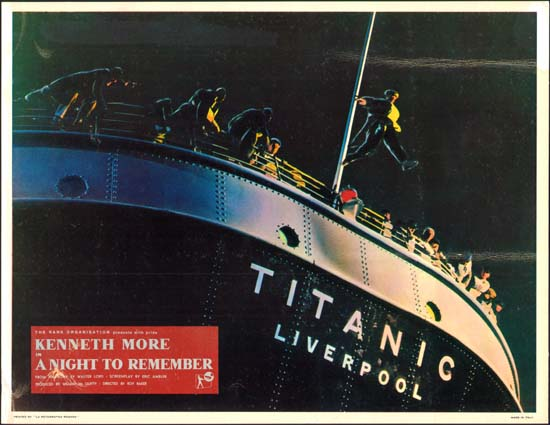 Night To Remember, A UK Lobby Card