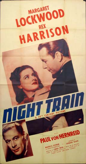 Night Train to Munich US Three Sheet movie poster