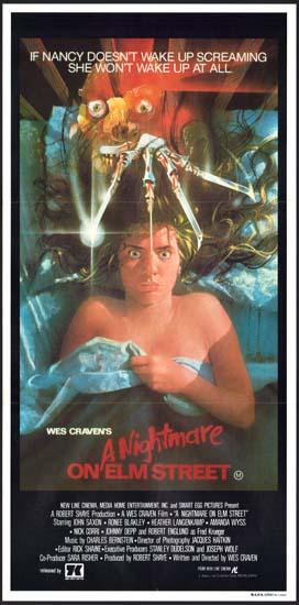 Nightmare on Elm Street, A Australian Daybill movie poster