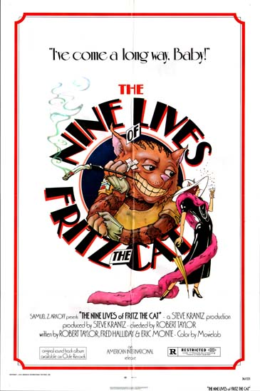 Nine Lives of Fritz the Cat US One Sheet movie poster