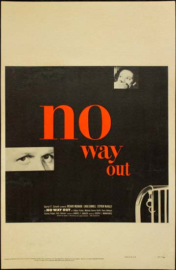 No Way Out US Window Card movie poster