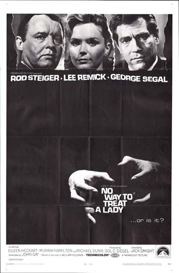 No Way To Treat a Lady US One Sheet movie poster
