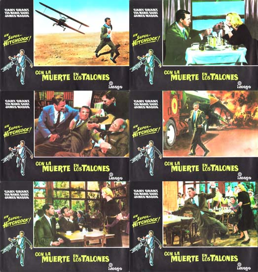Image 2 of North By Northwest Spanish Lobby Set of 10 cards