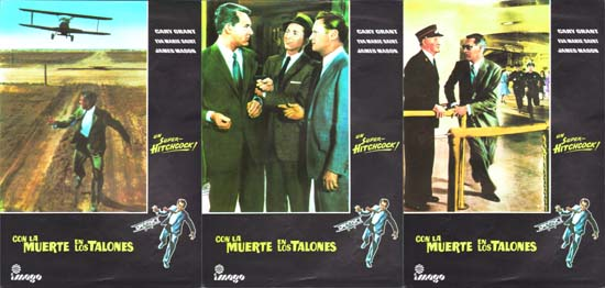 Image 3 of North By Northwest Spanish Lobby Set of 10 cards