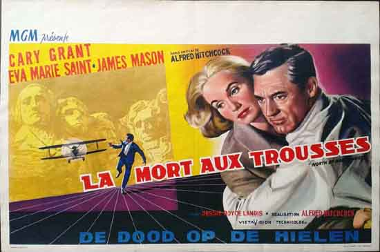 North By Northwest Belgian movie poster