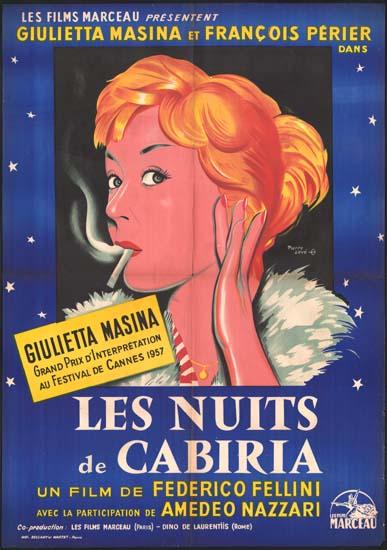 Notti di Cabiria, Le [ Nights of Cabiria ] French movie poster