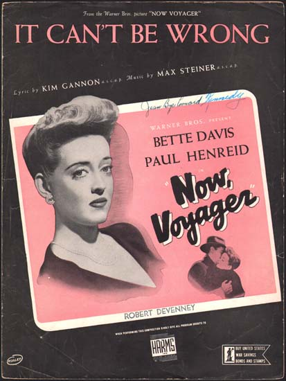 Now Voyager US Sheet Music