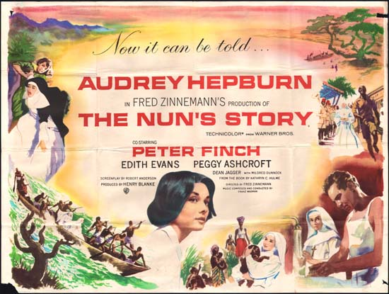 Nuns Story,The UK Quad movie poster