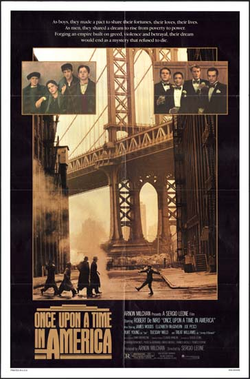 Once Upon a Time in America US One Sheet movie poster