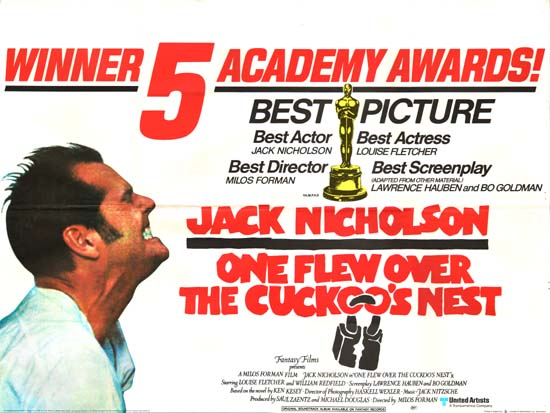 One Flew Over the Cuckoos Nest UK Quad movie poster
