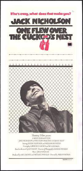 One Flew Over the Cuckoos Nest Australian Daybill movie poster
