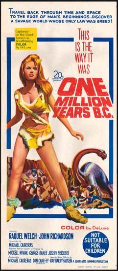 One Million Years BC Australian Daybill movie poster