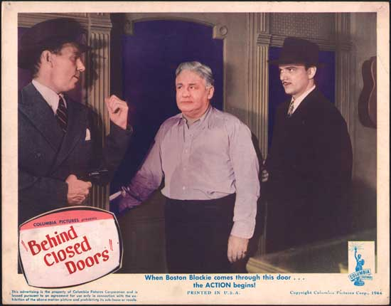 One Mysterious Night [ Behind Closed Doors ] US Lobby Card