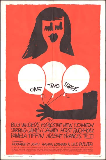 One Two Three US One Sheet movie poster