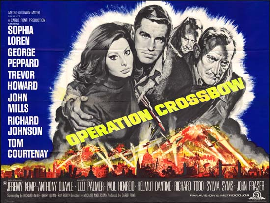 Operation Crossbow UK Quad movie poster