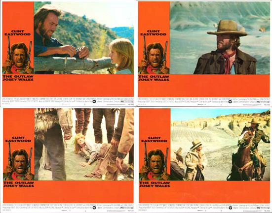 Outlaw Josey Wales, The US Lobby Card Set of 8