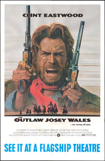 Outlaw Josey Wales, The US Subway One Sheet movie poster