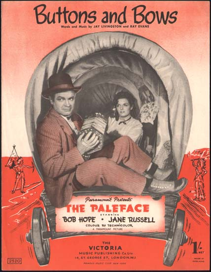 Paleface, The UK Sheet Music