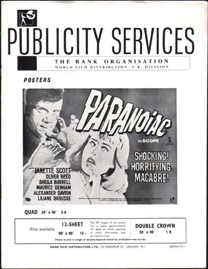 Paranoiac UK Pressbook
