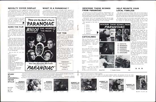Image 2 of Paranoiac UK Pressbook