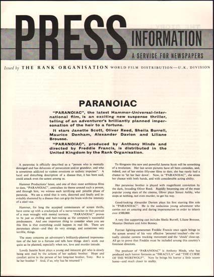 Image 3 of Paranoiac UK Pressbook