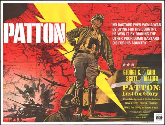 Patton UK Quad movie poster