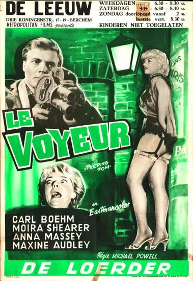 Peeping Tom Belgian movie poster