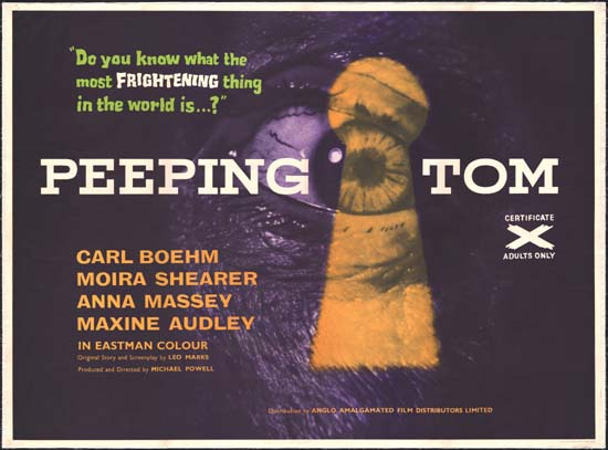 Peeping Tom UK Quad movie poster