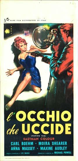 Peeping Tom Italian Locandina movie poster