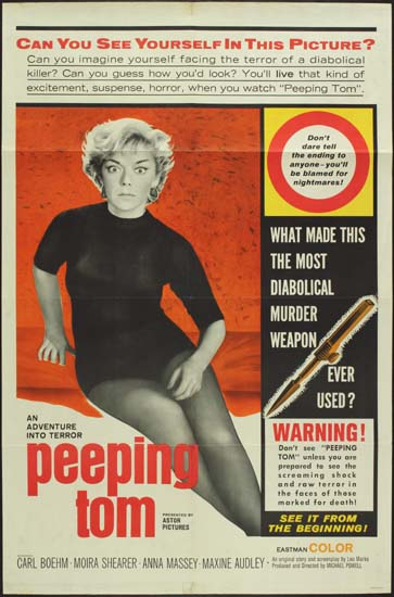 Peeping Tom US One Sheet movie poster