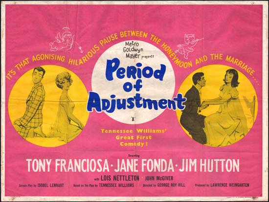 Period of Adjustment UK Quad movie poster
