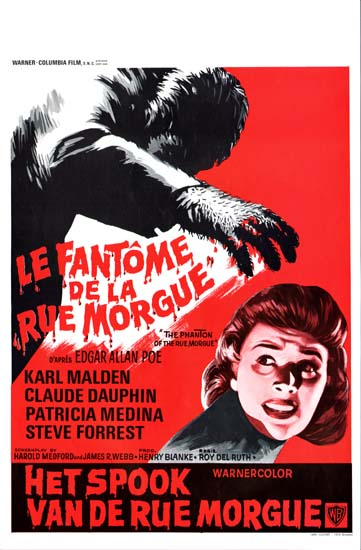 Phantom of the Rue Morgue Belgian movie poster
